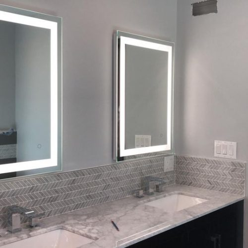Install 2 lighted mirror-Northridge